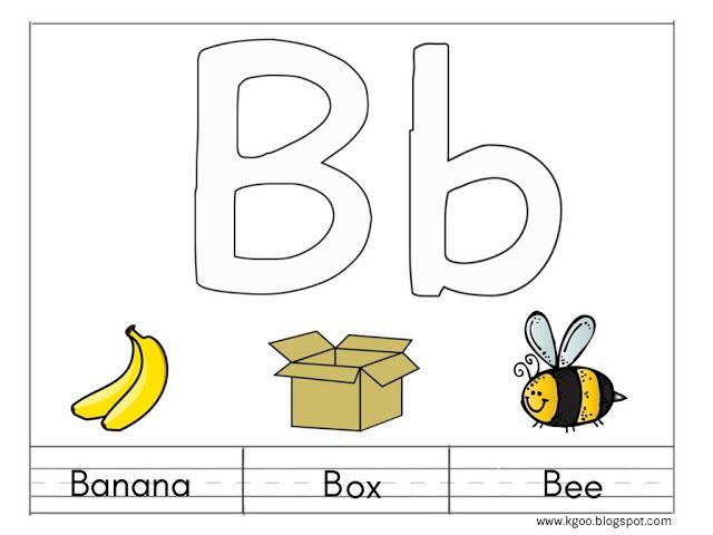 منهج الرواد لرياض الاطفال أوراق عمل حرف Bb Bee Learn English Learning