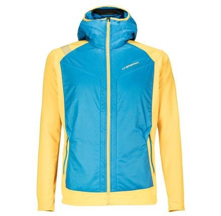 The combination of PrimaLoft® SILVER ECO, a fleece material and a double weave makes this a very technical hybrid piece that meets all the requirements during your mountain activity.