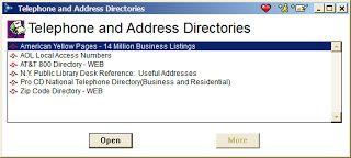 AOL Telephone and Address Directories ScreenShot