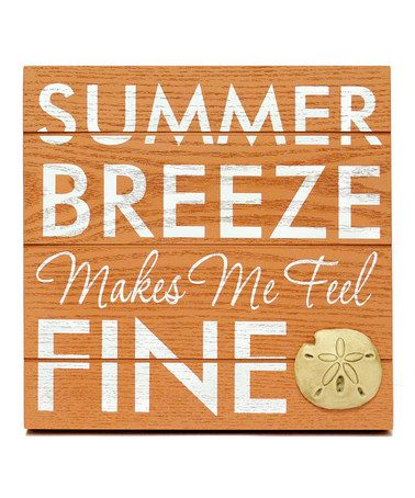 Take a look at this Orange 'Summer Breeze' Wall Art by Seaside Style: Home Accents on @zulily today!