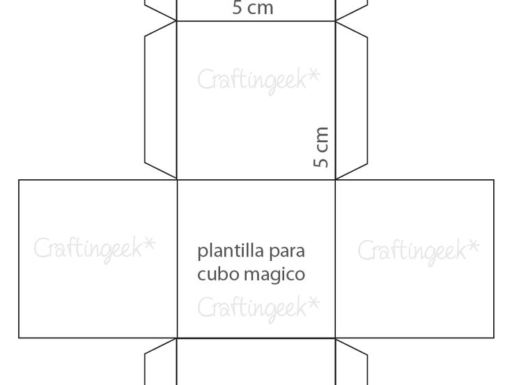 Cubo magico plantilla