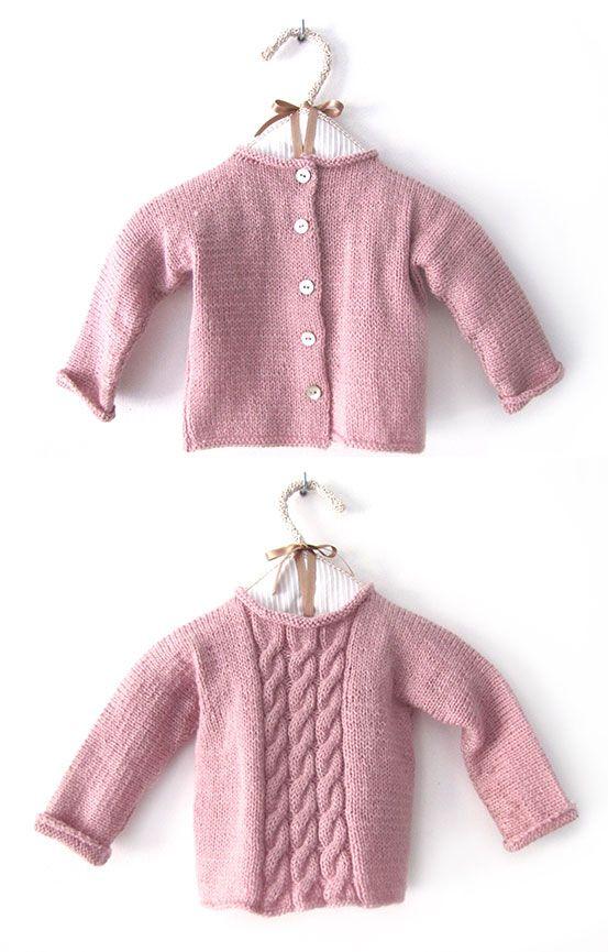 C mo hacer un jersey de beb a dos agujas diy dos - Como hacer un jersey de punto ...
