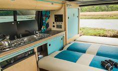 VW Camper Vans | T5 Campervan Conversions & Kits | Cambee ™ | Camper van conversion diy, Campervan interior, Camper van