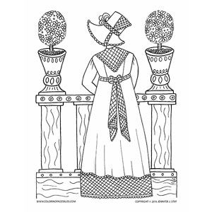 Jane Austen Inspired Coloring Page For Adults Lose Yourself In The World Of Pride And