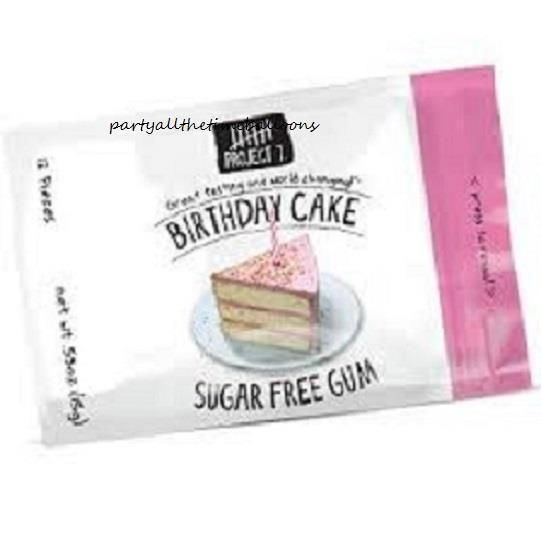 Details About 3 Packs Project 7 BIRTHDAY CAKE Gourmet Gum FAVORITE FLAVOR