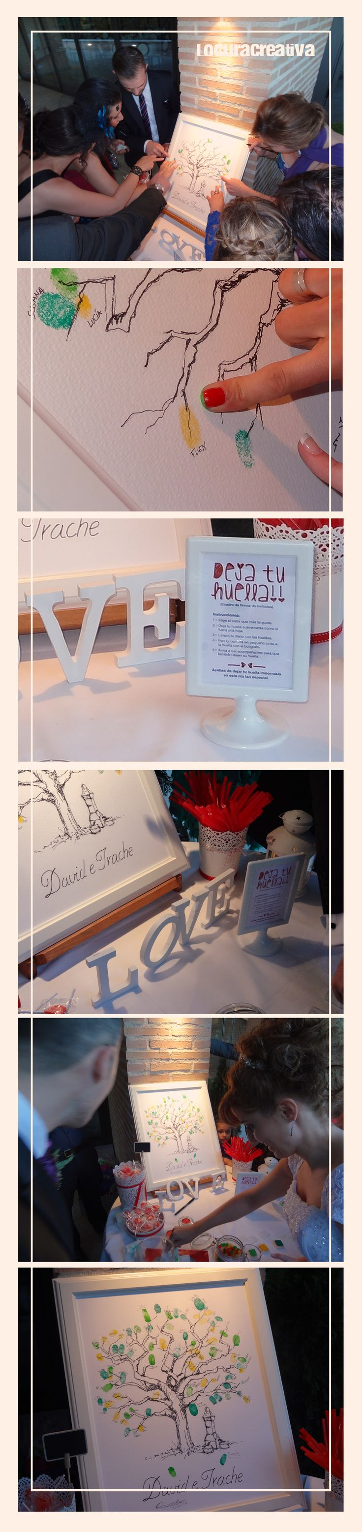regalo bodas #arbol firmas #wedding #locuracreativa