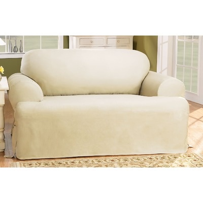 sure fit cotton duck sofa slipcover t cushion