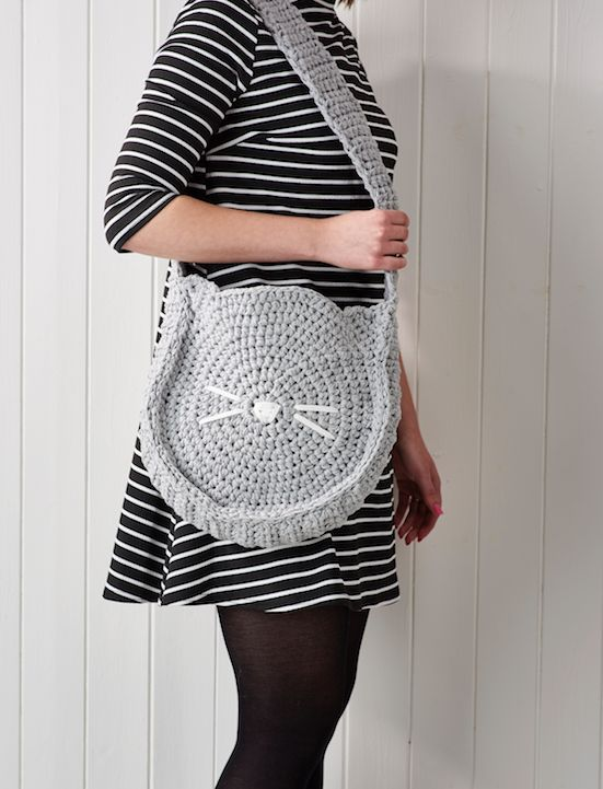 Frank&Olive's cat bag is just purrfect. Find the pattern in issue 56 of Simply Crochet.