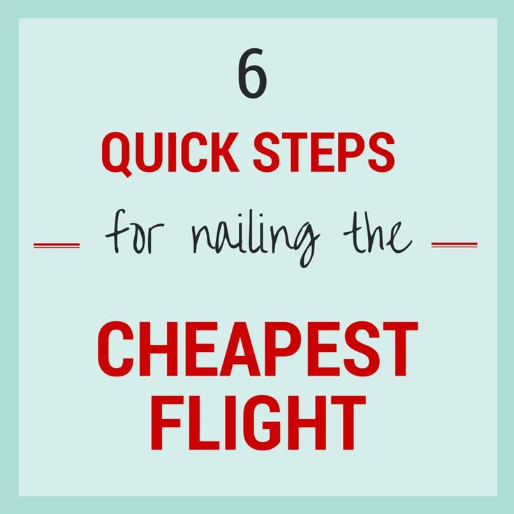 If you're like us, you don't have hours to scour every possible points option and compare dozens of airfare searches over a few days. With that in mind, we wrote this step-by-step guide to help you land the cheapest flight – fast. Six Quick Steps to Nailing the Cheapest Flight