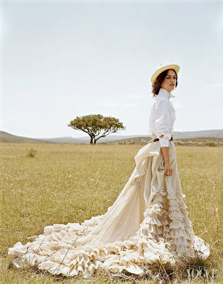 Keira Knightley photographed by Arthur Elgort, Vogue, June 2007.