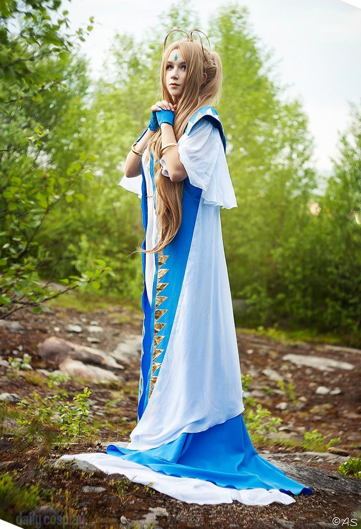 Belldandy from Ah! My Goddess. She's real! She's real!