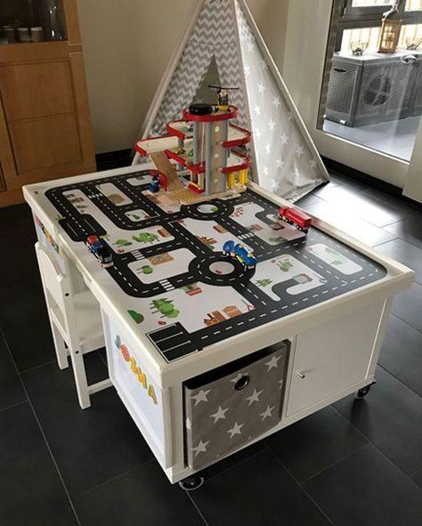 Multifunktionstisch selber bauen: Straßentisch und Eisenbahntisch