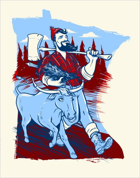 Best Paul Bunyan Ideas On Pinterest Bemidji Minnesota Tall - Paul bunyan in us map