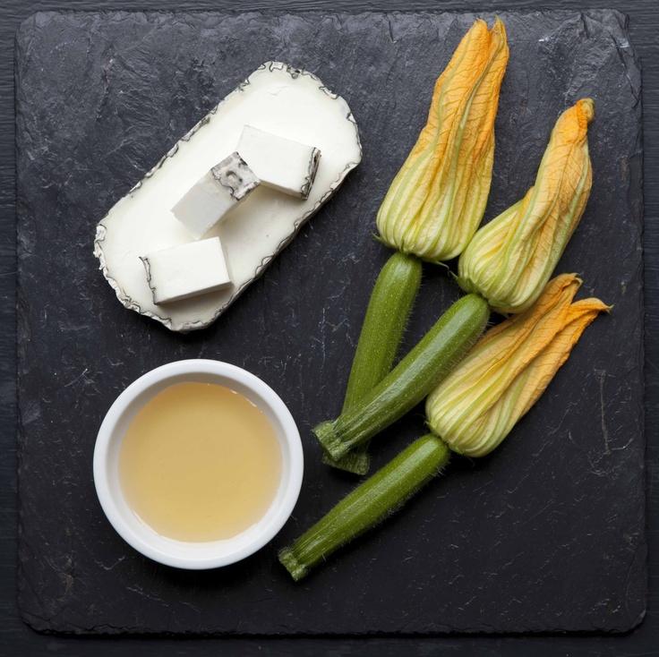courgette flowers! yes! Salt Yard strike again...