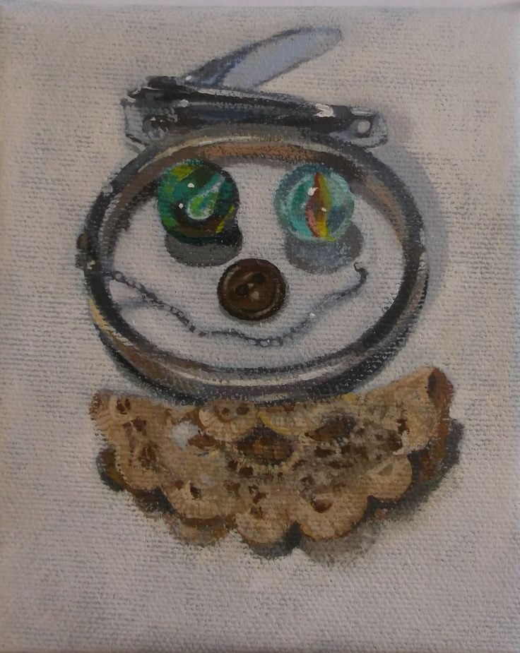 """""""Lacey"""" 4x5 2015 still life composition of odds and ends from everyday life Kim Floyd"""