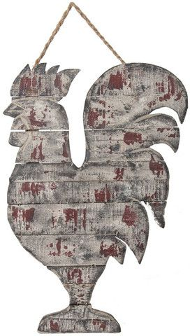 Reclaimed Wood Rooster Wall Decor                                                                                                                                                                                 More
