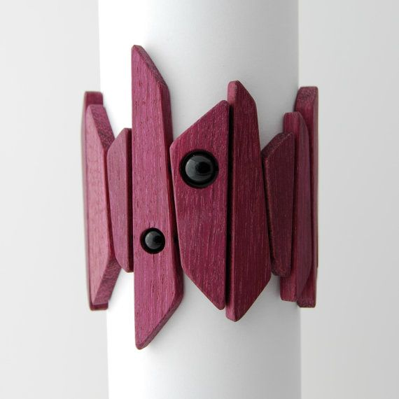 Controlled Chaos Bracelet  purpleheart bracelet by LucieVeilleux, $85.00