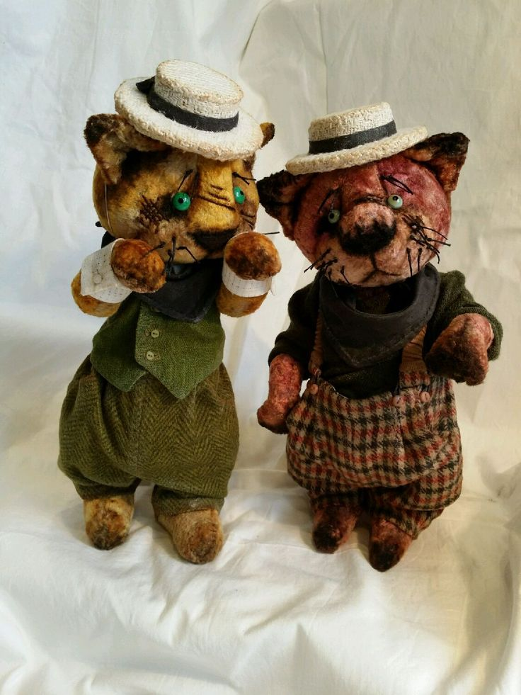 Купить Бандито гангстерито нашего двора. - кот, хулиган, коты, деева инна, винтажный плюш