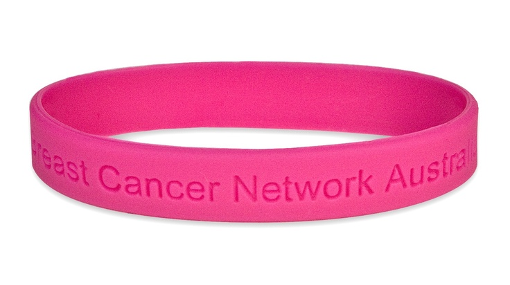 Our hot pink wristbands not only look great but also promote awareness of our important cause.