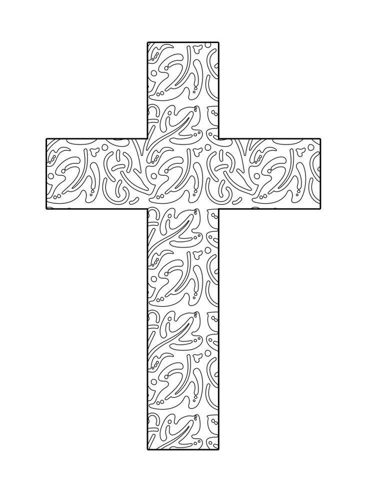 Abstract Cross Coloring Pages : Best images about easter and crosses templates on