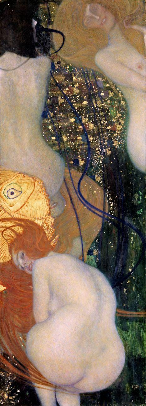 Gustav Klimt, Goldfish (high resolution) on ArtStack #gustav-klimt #art