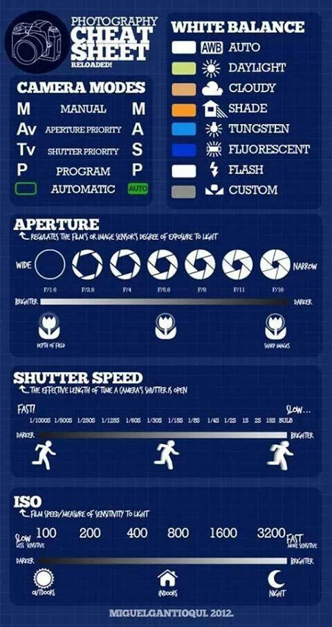 i like this infographic because it shows me how fast to make everything and it shows it for all different kinds of camera not just one of them so it can help tons of people