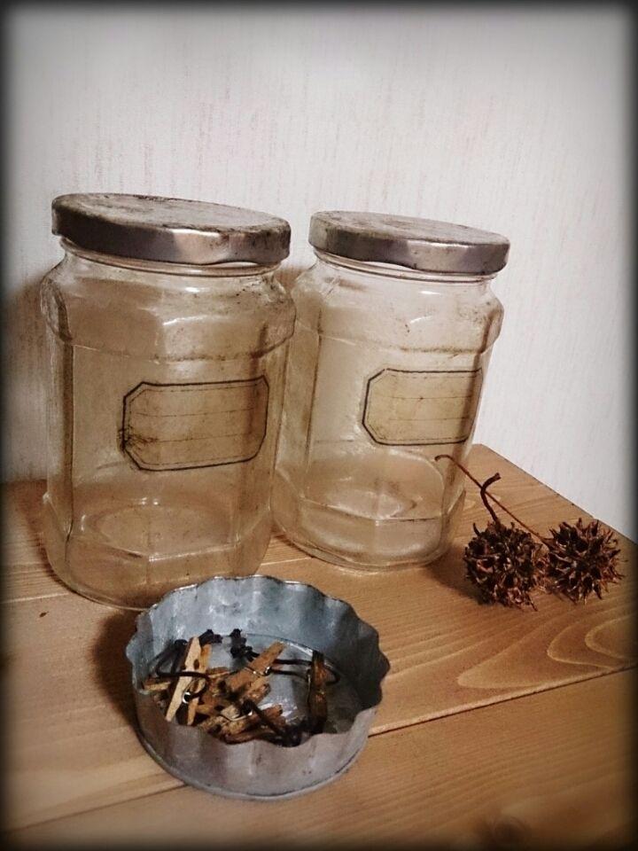 ダイソーのガラス瓶をリメイク|のえるのブログ