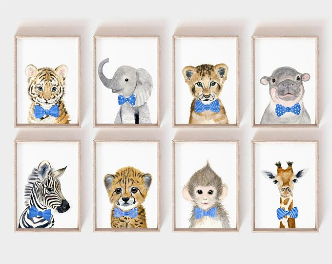 Safari Nursery Art Prints