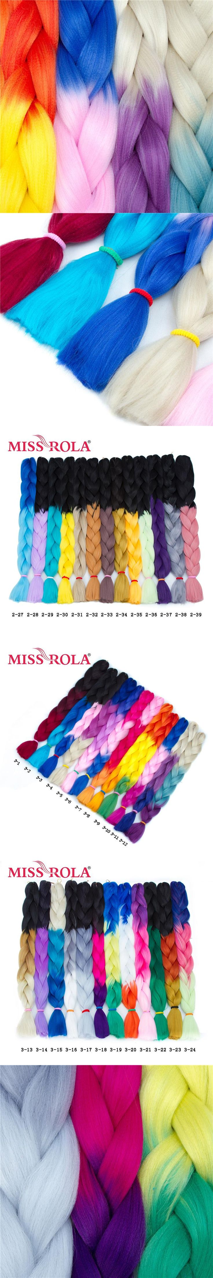 Miss Rola 1pc Ombre Jumbo Braiding Hair Extensions 165g Synthetic High Temprature Fiber Long Crochet Braids Hair 32inch