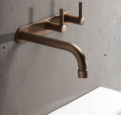 The #Brodware Yokato is a completely new and original design in the bathroom industry. The unique knurling at the tips of each part of the product offers an industrialized feel. The other aspect that makes this range so beautiful is the slimline diameter of the #tapware itself. The wall set is versatile in its function as it can be used as a basin, bath or kitchen set. Finishes available include: Black, Bronze, Brass, Nickle, Vecchio, Red, White, Blue, Nickel, Brushed Chome
