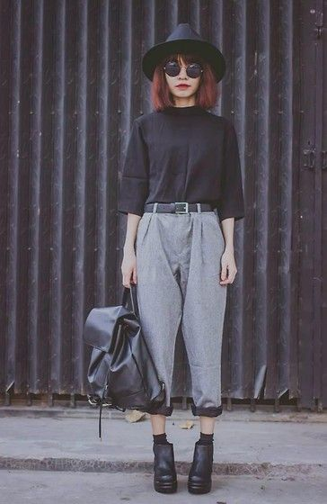 Get this look: http://lb.nu/look/7027532  More looks by Phen Holy: http://lb.nu/phenholy  Items in this look:  Sheinside Pant   #grunge #minimal #punk