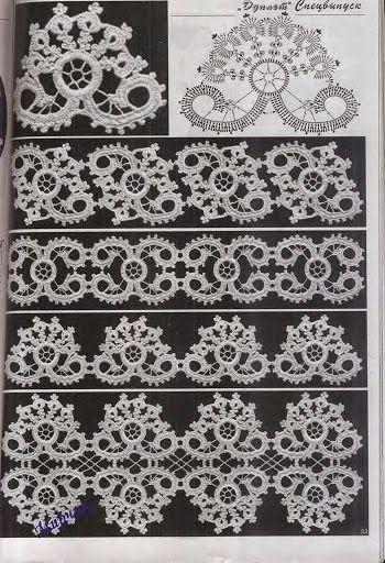 Letras e Artes da Lalá: barrado de crochê... A gorgeous motif and the various ways to join it!!