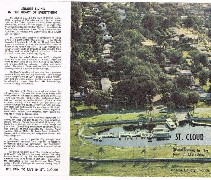 Florida St Cloud Osceola County Travel Brochure Vintage 1960's Lake Tohopekaliga #Vintage