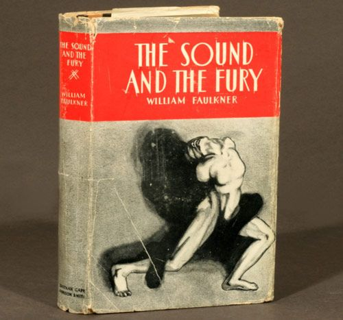The First Edition Covers of 25 Classic Books: The Sound and the Fury, by William Faulkner. Jonathan Cape and Harrison Smith, New York, 1929