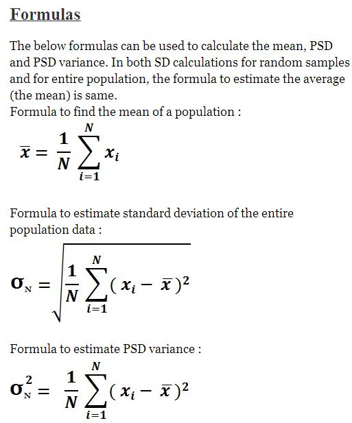 standard deviation statistics coursework Interestingly, in the real world no statistician would ever calculate standard deviation by hand the calculations involved are somewhat complex, and the risk of making a mistake is high also, calculating by hand is slow.