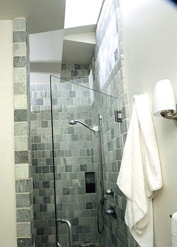 Bathroom stone and tile ideas the natural shower tiles for Tumbled marble bathroom designs