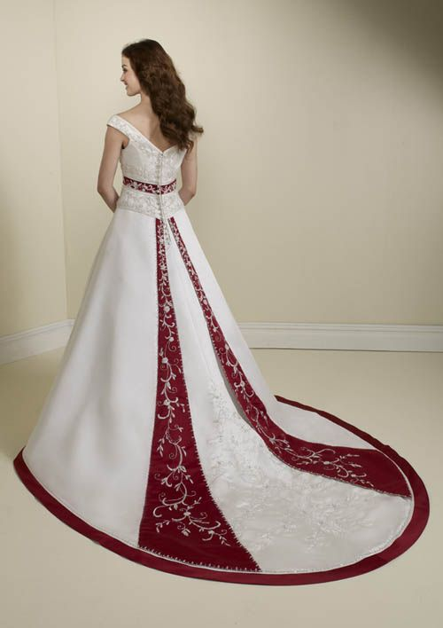 Red+Wedding+Dresses | Wedding Addict: Timeless red and white wedding dresses