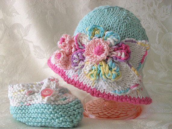 Baby Hats Knitting Knit Baby Hat Knitted Baby by CottonPickings