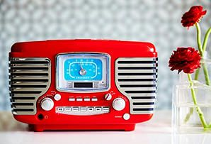 Awesome -- I wonder if it only plays old music also. hmmmm? One Kings Lane - Crosley Radio