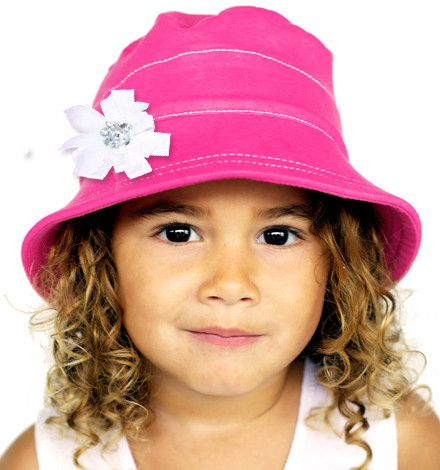 Gorgeous Pink bucket hat with clip www.sunswimplay.com.au