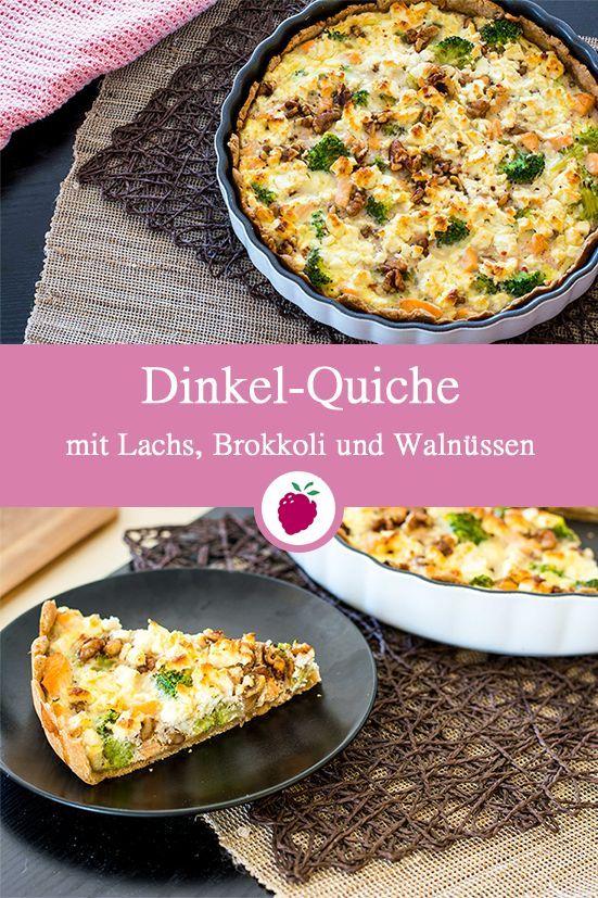 Gesundes Rezept für eine leckere Dinkelquiche mit Lachs, Brokkoli und Walnüssen …   – Essen & Trinken / Eat & drink