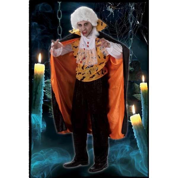 DisfracesMimo, disfraz vampiro murcielago naranja hombre talla m/l.Éste disfraz de Halloween es ideal para celebrar la Fiesta de la Noche de las Brujas cada vez más arraigada en nuestro País en Pub's. Este disfraz es ideal para tus fiestas temáticas de disfraces de miedo y vampiros para hombre adultos.