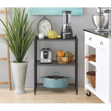 Take control of your clutter with this adjustable 3 tier shelf unit from Tidy Living. Whether you need to organize a closet, pantry, garage or gardening shed, an extra 3 shelves can make an amazing difference. Shop now --> https://www.tidyliving.com/3-tier-wire-shelf-black.html?utm_content=buffer4264a&utm_medium=social&utm_source=pinterest.com&utm_campaign=buffer  #TidyLiving #Shelving #WireShelves #Kitchen #Garage #Office #Bathroom #Multifunctional #Shelf