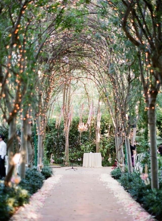 An outdoor wedding naturally :)