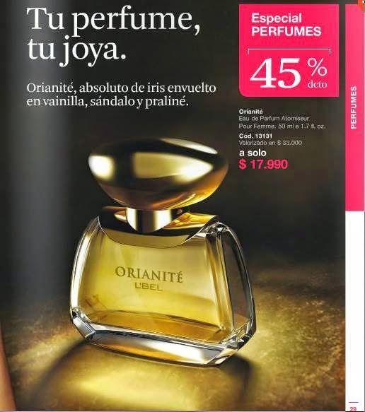 Perfume Orianite de LBel C-3 2015 Chile