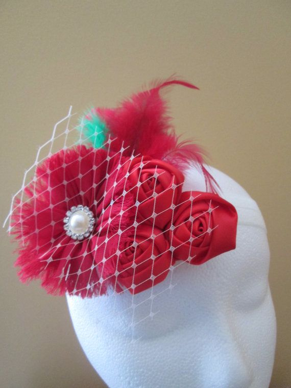 Christmas Headband Baby Girl's First by NakedOrchidGarters on Etsy