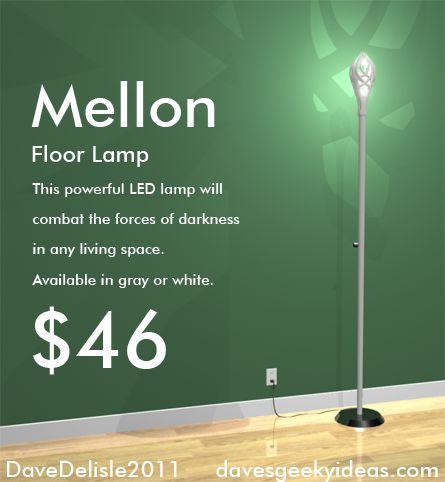 Gandalf LOTR Staff Mellon Geeky Furniture IKEA davesgeekyideas.com
