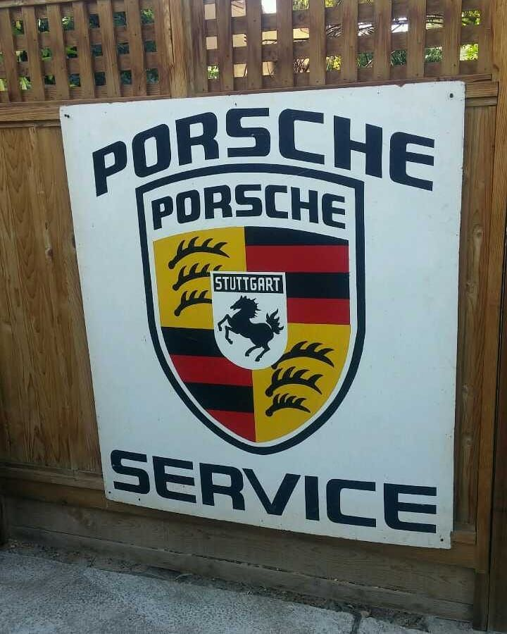 "33 Likes, 2 Comments - California Peddlers (@californiapeddlers) on Instagram: ""....large vintage Porsche sign on press board #porsche #porsche service #porscheclassic…"""
