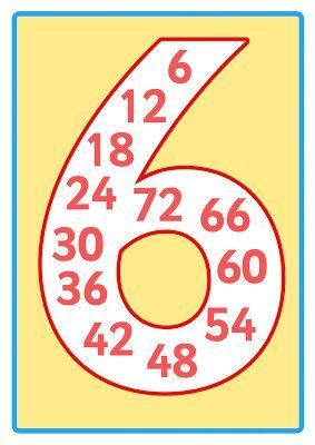 Educación Preescolar: [Primaria] Números del 2 al 12 con números dentro.