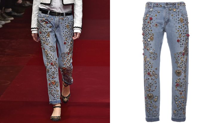 Totally Normal: Dolce & Gabbana's Embellished Jeans Cost$12,500   StyleCaster